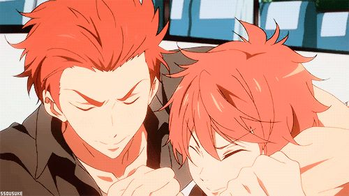 Free! ES ~~ These two were hilarious in episode 6! I just love the Mikoshiba brothers! :: Seijuro and Momotarou