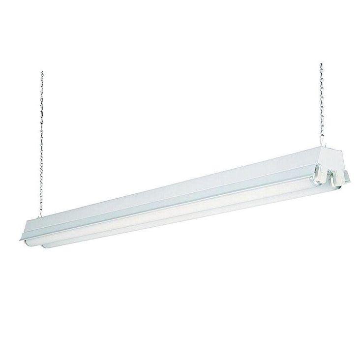 Lithonia Lighting 1233 RE 2-Light T8 Fluorescent Residential Shop Light,
