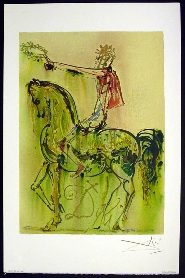 "Salvador DALI : ""Roman Horse"" Lithographie. : Lot 113A"
