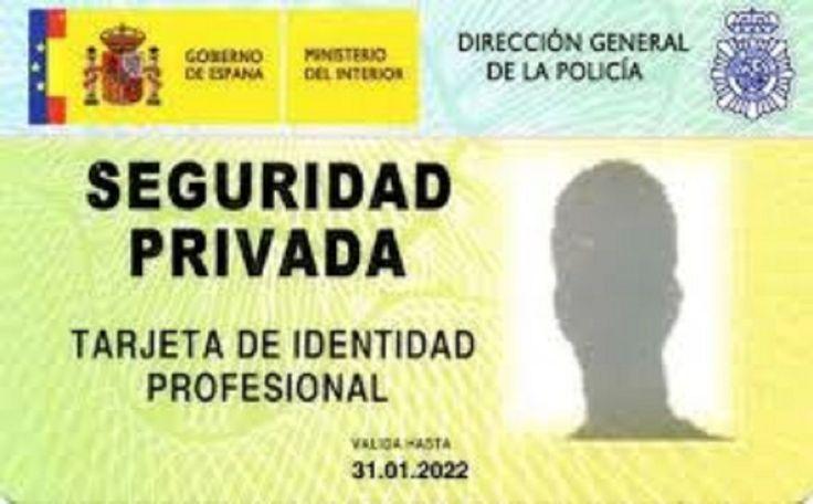 tarjeta de identificación profesional TIP