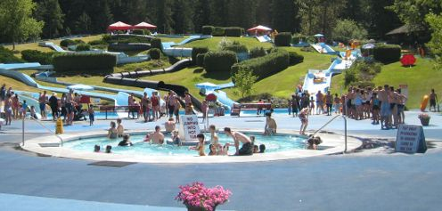 Bridal Falls Waterpark is just outside of Vancouver and is a beautiful, family-friendly destination. Camp overnight at Bridal Falls Camperland RV Resort.
