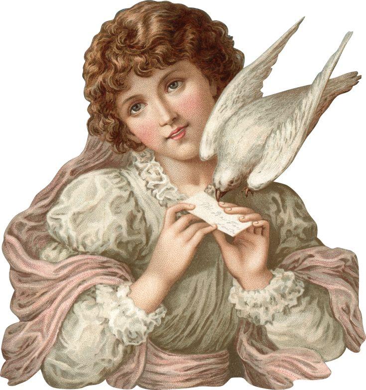Victorian Lady with Dove Scrap ~ http://img-fotki.yandex.ru/get/6426/981986.f/0_80ef5_4045b6a2_orig