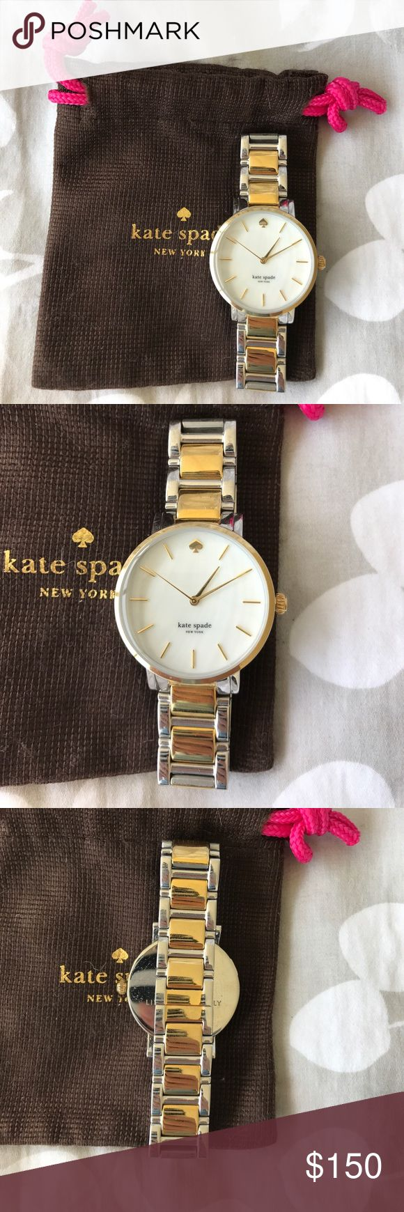 Kate Spade watch Kate Spade Gramercy watch. Two tone gold and silver. Barely ever worn. Battery is dead. kate spade Accessories Watches