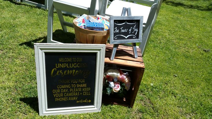 Signs by: The Bride Setup by: Love is Love Events