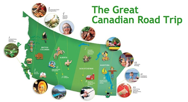 Canadian road trip | From Vancouver's PNE to Cape Breton's Bikefest, there's tons to see and do in Canada! Check out our list of Canada's best festivals, fairs and sites and hit the road this summer! #airmiles #canadaday
