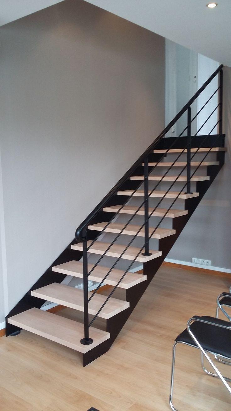 Nos verrières - Escalier Design 14 - Escalier limon fer plat, Escalier limon…                                                                                                                                                                                 Plus