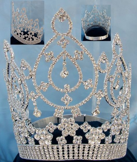 Beauty pageant Silver contoured crown tiara