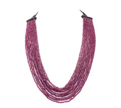 Angelo di Spirito Rosa | Jewelry, Necklaces, Bracelets | Rhodolite Light Shade Necklace with Smokey Quartz Dark Shade and Diamond Ball