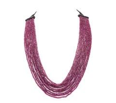 Angelo di Spirito Rosa | Jewelry, Necklaces, Bracelets | Rhodolite Light Shade Necklace with Smokey Quartz Dark Shade and Diamond Ball