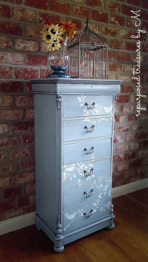 Check out this item in my Etsy shop https://www.etsy.com/listing/499547403/tall-dresser-beachy-dresser-6-drawer