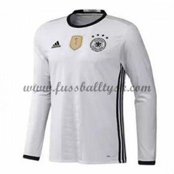 Günstige Fußballtrikots Deutschland Nationalmannschaft 2016 Heimtrikot Langarm