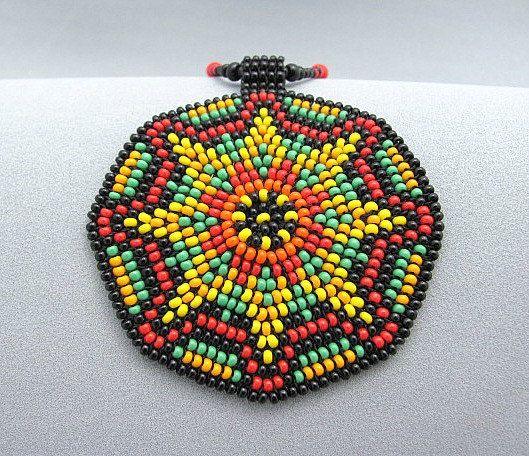 Collar Mandala semilla. Abalorios sol Mandala por HANWImedicineArt