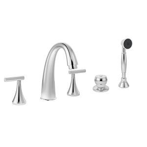 Roman Tub Spout With Diverter. Symmons Lucetta Two Handle Roman Tub Faucet with quarter turn ceramic  control comonents Hand spray and separate push button diverter rigid copper 9 best Faucets images on Pinterest Knob
