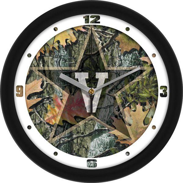 Mens Vanderbilt Commodores - Camo Wall Clock