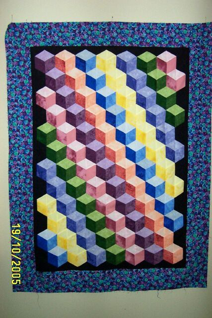 Tumbling Blocks Quilts