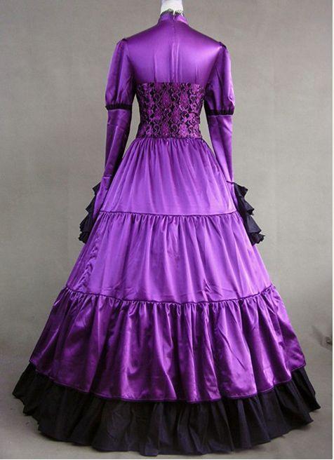 Royal Purple Victorian Gothic Corset Dress