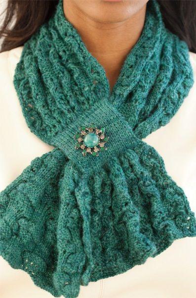 Модный шарфик с ажурным и текстурным узором - МирТесен