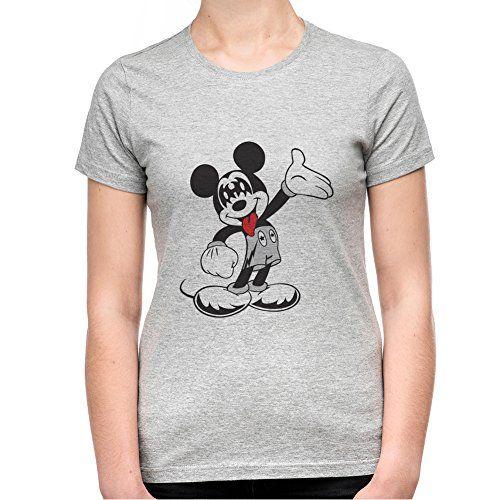 Mickey With Kiss Mask Camiseta Mujeres - XX-Large #camiseta #friki #moda #regalo