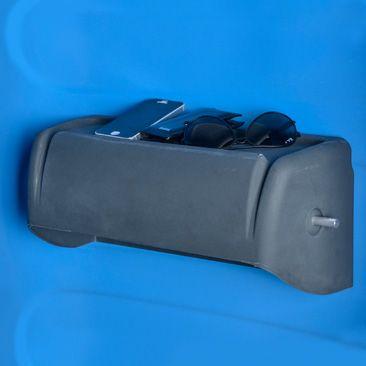 Myblok Toilet Paper Holder in a Portable Toilet also a shelf | T BLUSTAR porta carta
