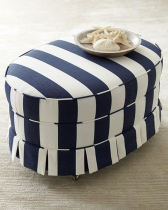 """""""Paige"""" Oval Ottoman by Haute House at Horchow."""