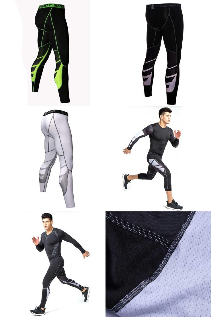 [Visit to Buy] Men Running Tights Pro Compress Yoga Pants GYM Exercise Fitness Leggings Workout Basketball Exercise Train Sports Clothing UX22 #Advertisement