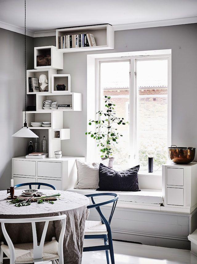 Window seat. Entrance