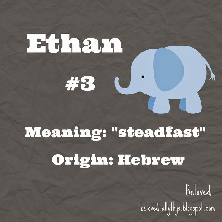 E for Ethan! Most Popular Boys Names By the Letter (2013)