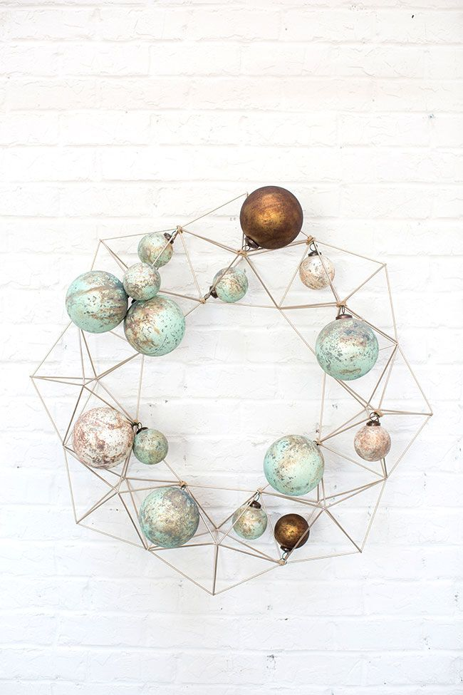 Accent Decor Top 10 Bestsellers - Minimal Geo Wreath and muted pastel ornaments