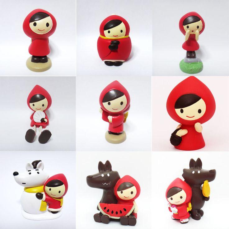 Concombre DECOLE Japan Cute Kawaii Figure Ornament Red Cloak SET #ConcombrebyDECOLE