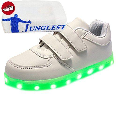 [Present:kleines Handtuch]Weiß EU 28, weise Leucht Freizeitschuhe 7 Kinderschuhe Aufladen laufende Herbst LED Schuhe Sport Paare JUNGLEST® und schuhe Leuchtend Unisex (*Partner-Link)