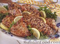 Фото к рецепту: Курица с травами, приготовленная на гриле