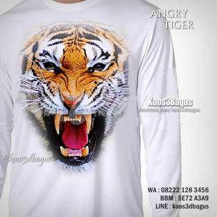 Kaos MACAN, Kaos HARIMAU, Kaos Gambar Kepala Macan, Angry Tiger, Kaos3D, Kaos ANIMAL, https://www.facebook.com/kaos3dbagus, WA : 08222 128 3456, LINE : Kaos3DBagus