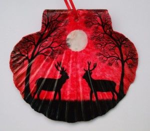 """Deer & Tree Silhouette"" by Claudine Péronne"