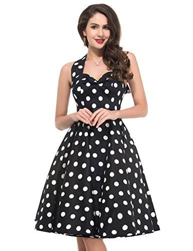 Polka Dots Vintage Style Pin Up Dresses Size 3XL CL45991 ** To view further for this item, visit the image link.