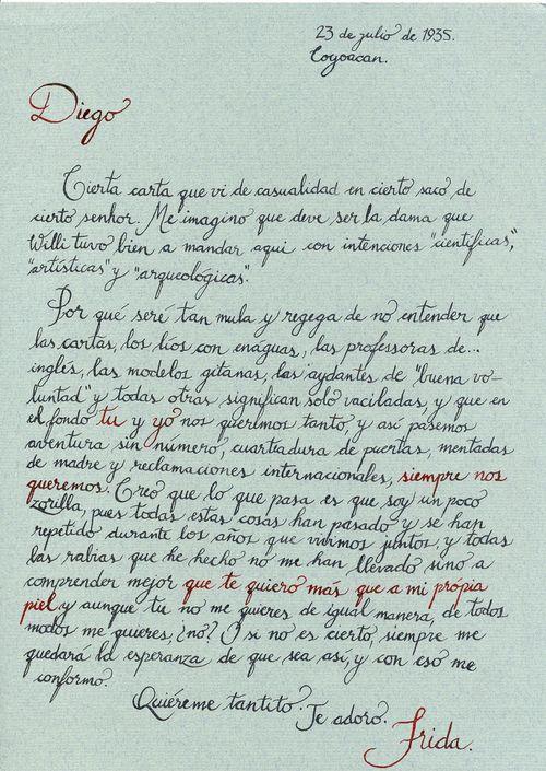 Carta de Frida a Diego