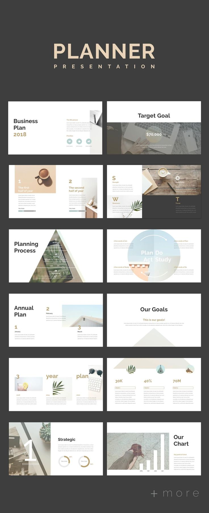 Simple Planner Presentation Template #presentation #powerpoint