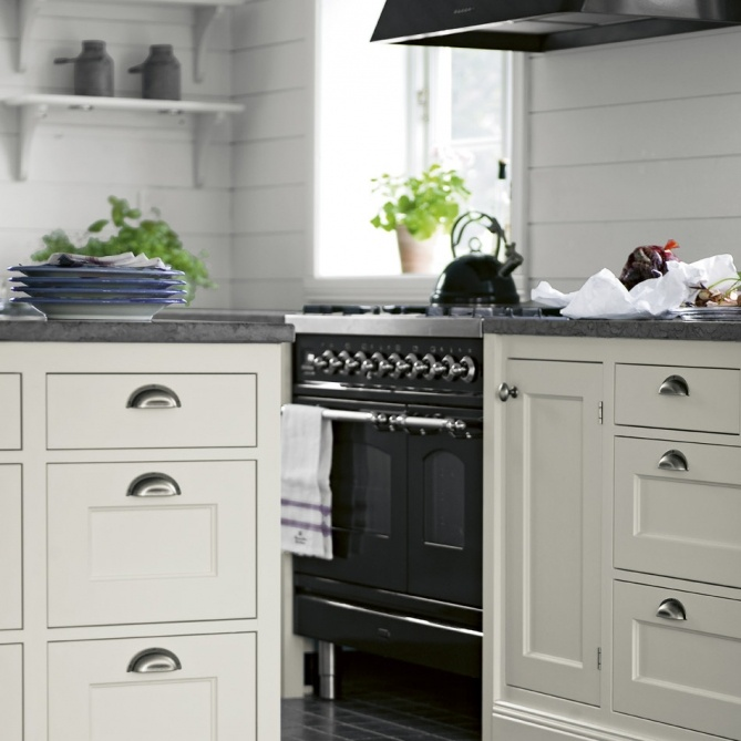 contemporary inset cabinets by Swedish company kvanum.com YES PLEASE - just LOVE this look, especially the drawer pulls...
