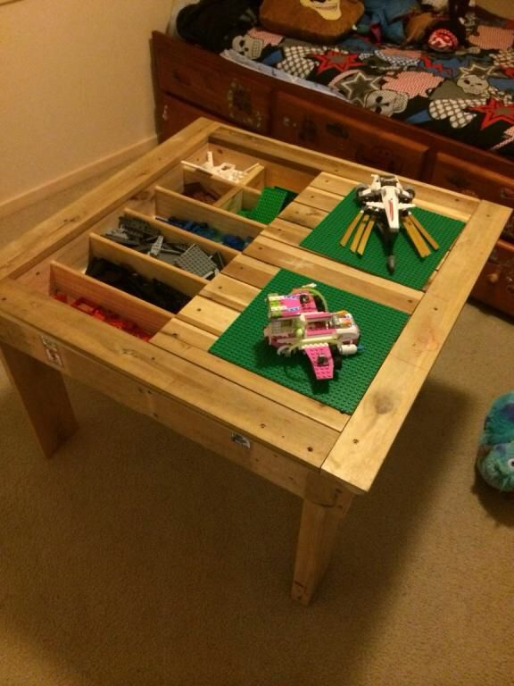 Kids Lego play table made from recycled wood by Touchwood Creations , Sunshine Coast.