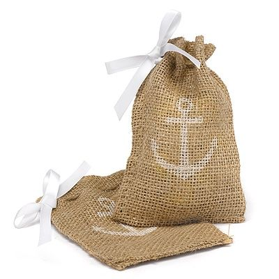"""burlap favor bags.. can make this ourselves with """"throw me"""" or something on them and fill with sprinkles"""