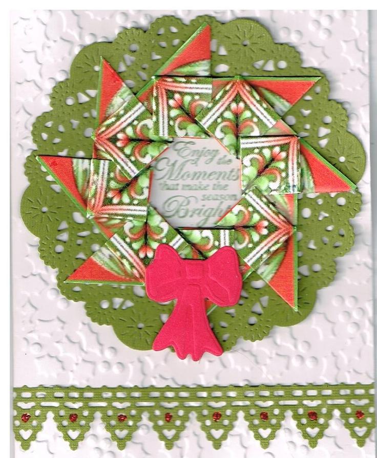 Teabag Fold Wreath