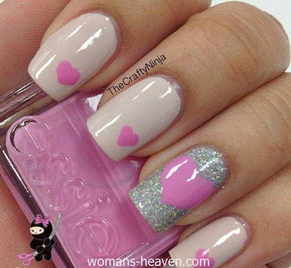 heart nails art design picture image pic photo beauty (15) http://www.womans-heaven.com/heart-nails-art-design/