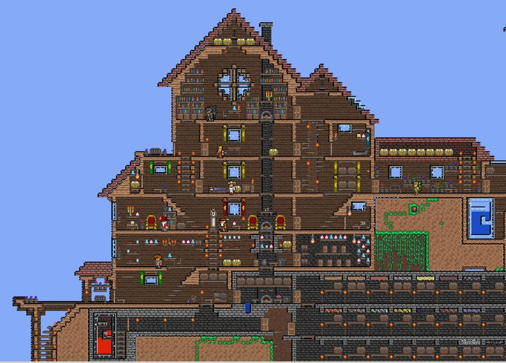 Big house terraria pinterest mansions my house and for Terraria house designs