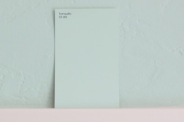 """I found this color in the """"Lowe's Creative Ideas For Color"""" display.  Tranquility CI 183  It also says """"Valspar Signature Colors"""" on the back."""
