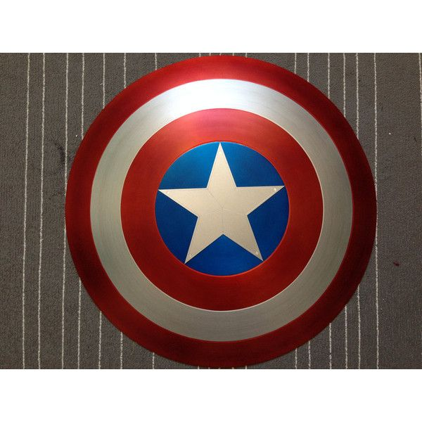 Captain America Shield Metal 1 1 FULL SCALE SATIN finish Avengers... ($799) ❤ liked on Polyvore featuring home, home decor and metal home decor