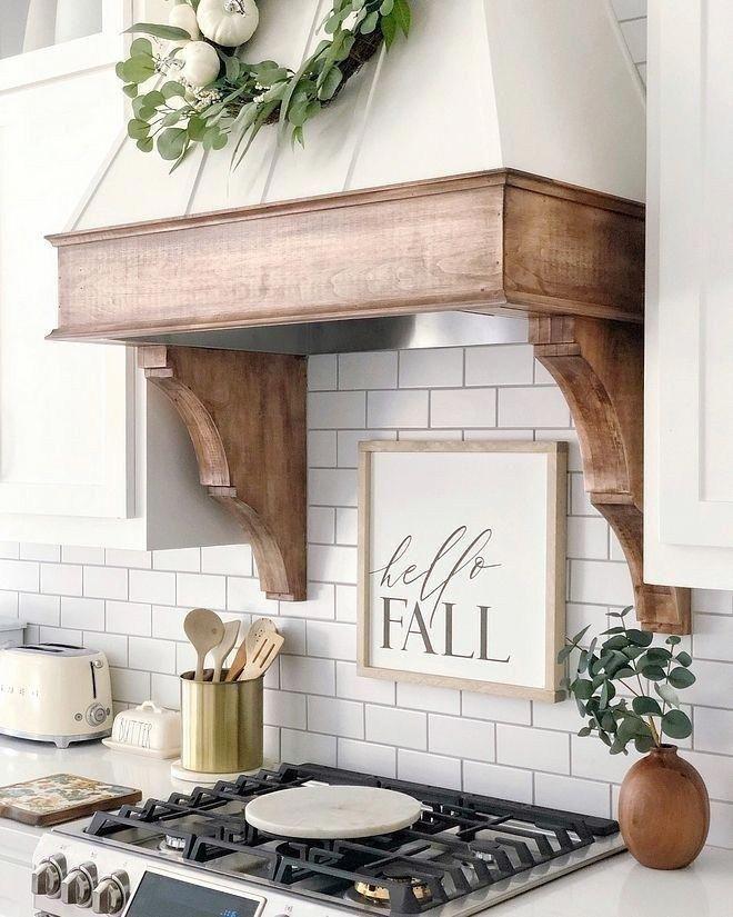 Inspiring Wood Hood Kitchen Makeover Ideas 18 Kitchencountertops Kitchen Hoods Kitchen Remodel Kitchen Vent
