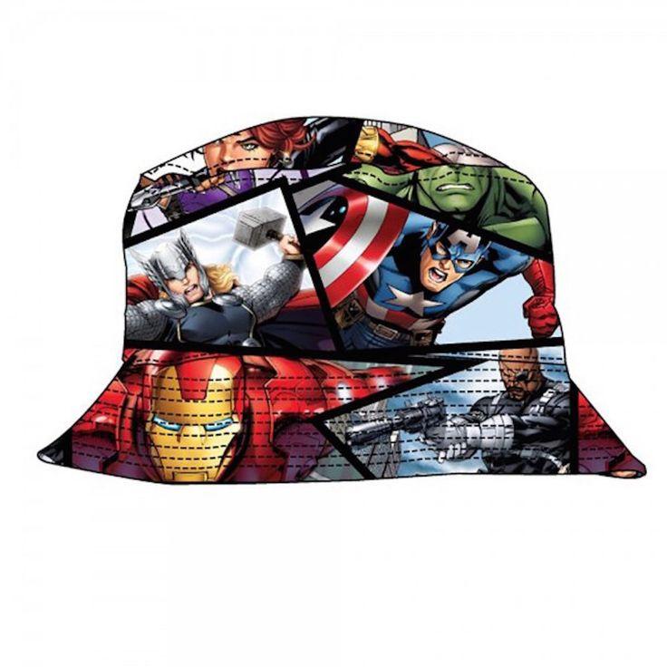 Marvel Comics Avengers Assemble All Over Print Bucket Cap Hat #MarvelComics #Bucket