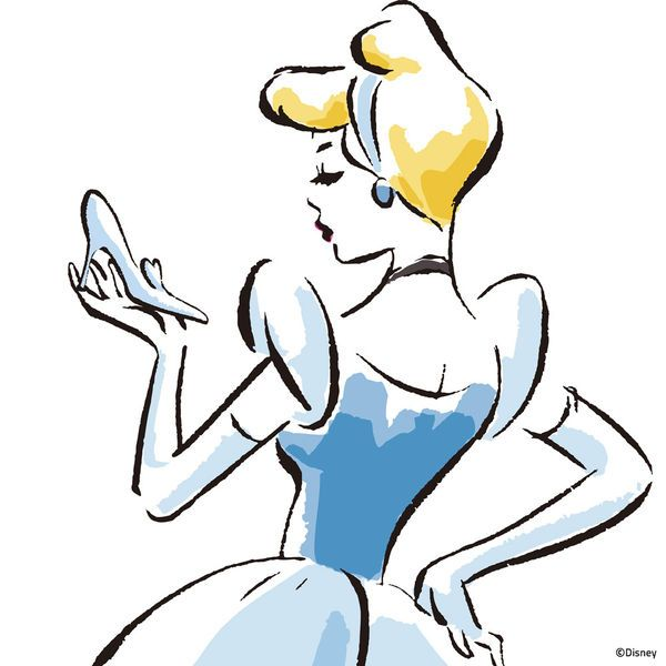 Cinderella Sketch by Disney Princess | DecalGirl