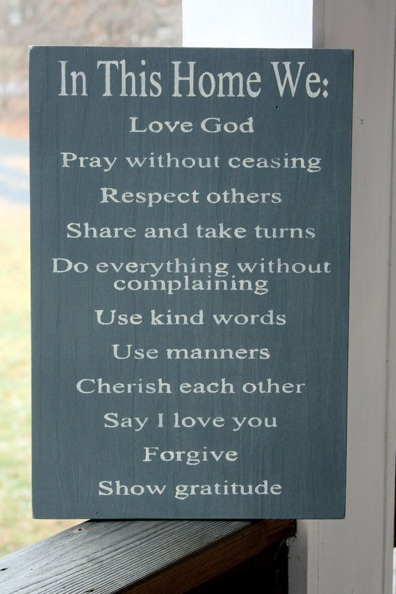 In this Home Christian Family Rules Family by PreciousMiracles, $49.00