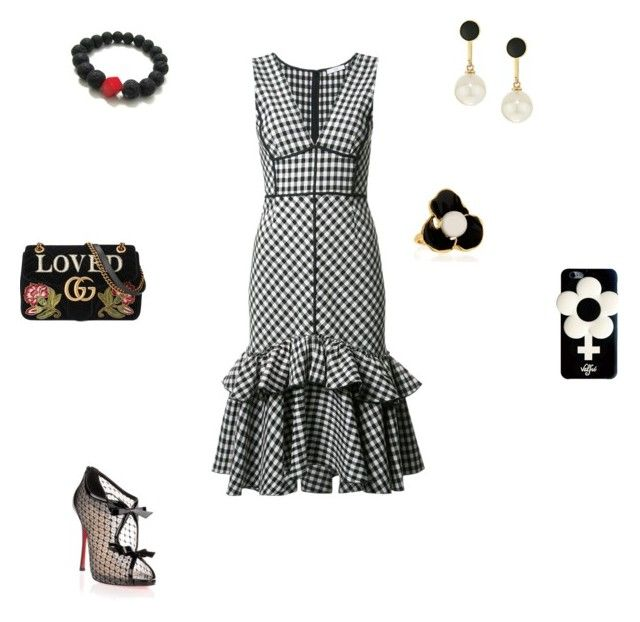 """Афродита"" by oksi-sedova ❤ liked on Polyvore featuring Tome, Christian Louboutin, Gucci, Kate Spade, Kenneth Jay Lane and Valfré"