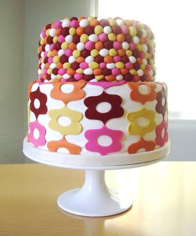 how about orange pattern on a cake!